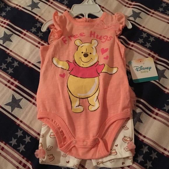 Baby DUMBO~Polo~Shirt~TOP White~SHORTS~SET~Infant 0-3M~NWT~Disney Store